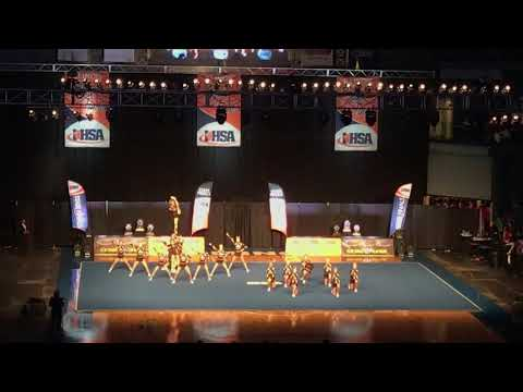 Lincoln Way West Varsity Cheer @ IHSA State 2020 (Day 2)