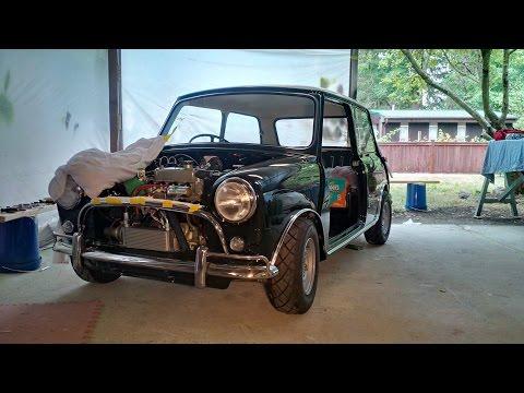 1966 Morris Cooper S   rebuilt engine runin