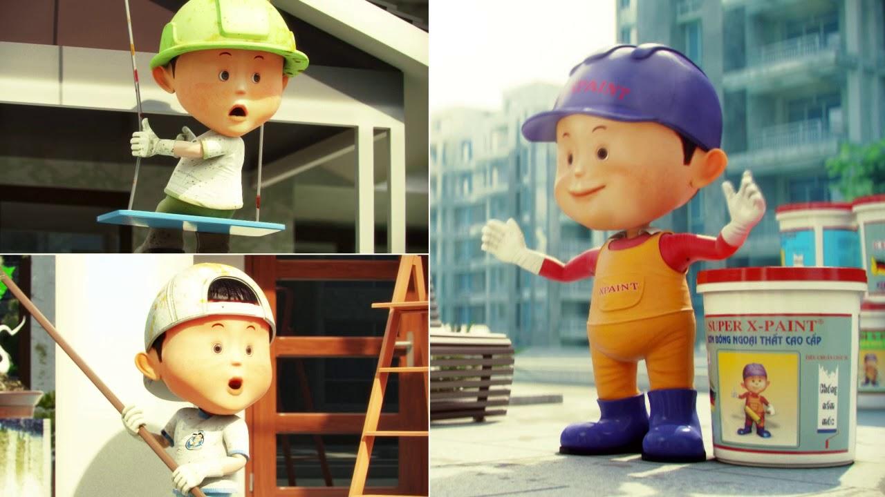 Phim quảng cáo TVC 3D – Sơn X PAINT HD