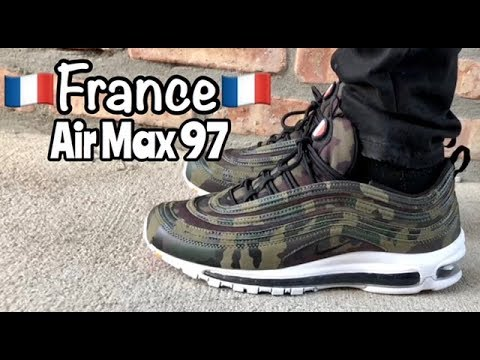 "Air Max 97 ""France"" ""Country Camo"" on feet"