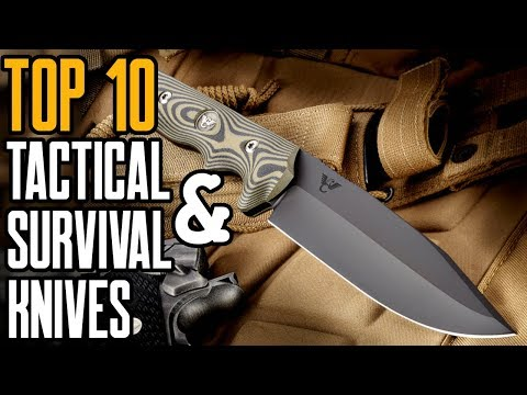 Top 10 Best Tactical & Survival Knives Available On AMAZON!