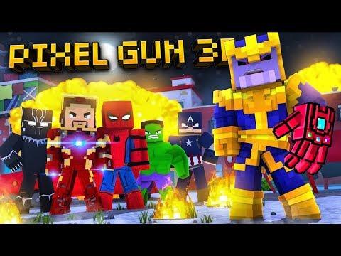 Pixel Gun 3D - Avengers Weapon Gameplay!