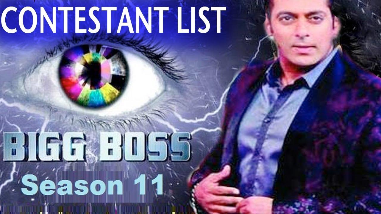 Bigg Boss 11 Contestants Name List 2017
