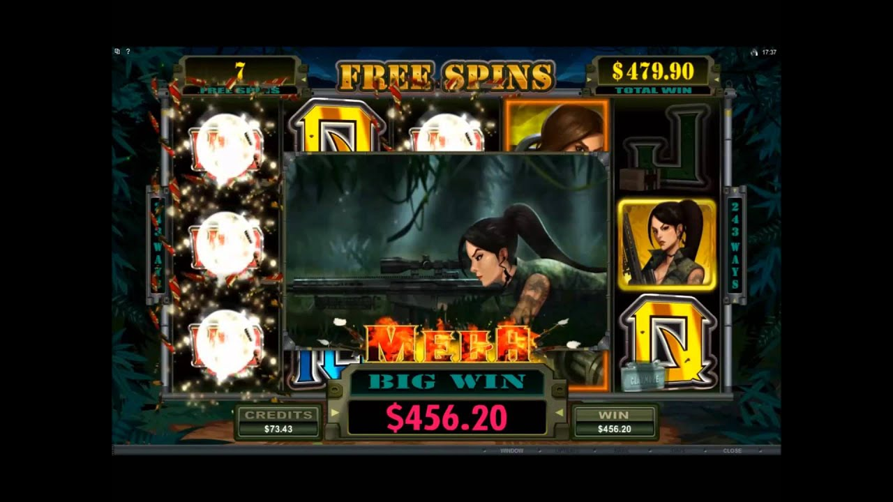 Girls With Guns A Busty 169x Win In Free Spins