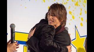 映画「チア男子!!」の公開を記念した舞台あいさつが5月10日、東京のTOHO...