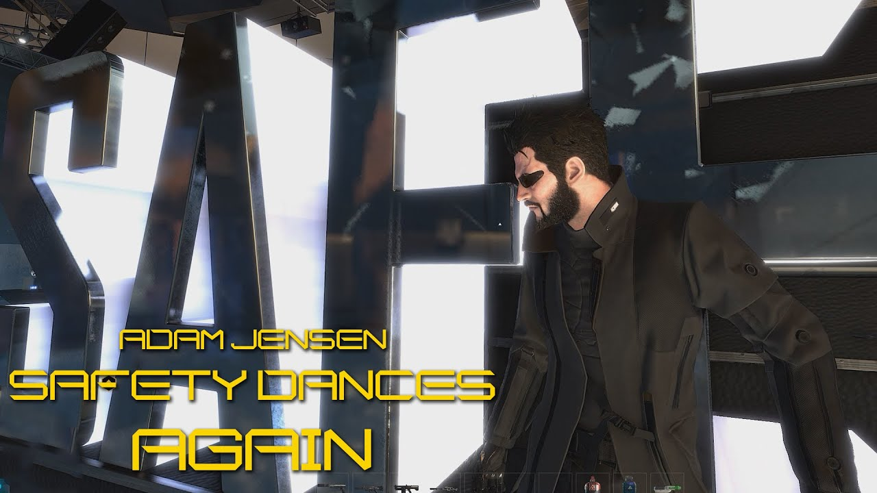 Adam Jensen Safety Dances Again (Deus Ex: Mankind Divided)