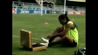 Тренировка Рональдиньо