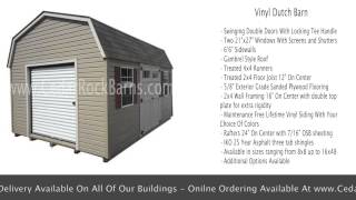 Vinyl Dutch Barn - Portable Mini Barns