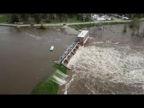 Michigan dam failures: Thousands evacuate areas in Midland ...