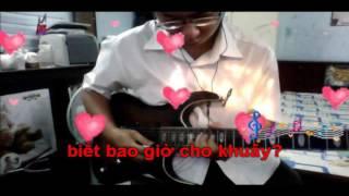 sầu tím thiệp hồng karaoke đàn guitar (Chelamson)