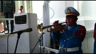 Terompet Glady bersih Istana Negara Upacara 17 Ags