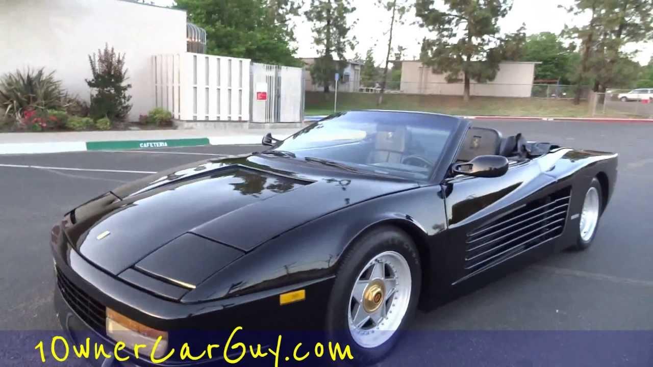Ferrari Testarossa Miami Vice Custom Replica * 1 Owner * Convertible GT  Conversion Kit