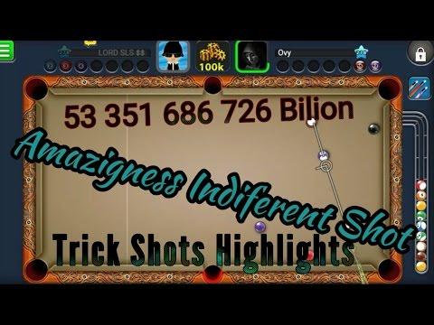 8 Ball Pool /Trick Shot Indirect Best  》《Lvl 278 》53 Bilion Coins $$$😎😎😎 Amazingness