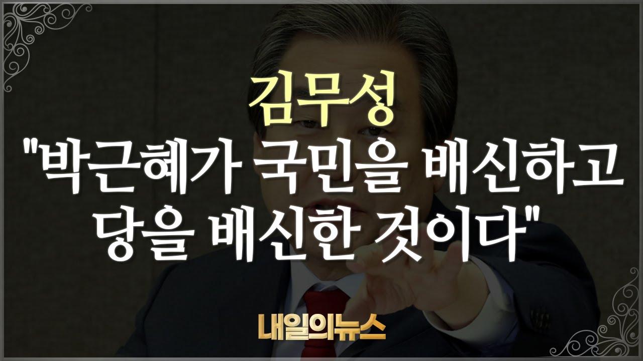 """김무성 """"박근혜가 국민을 배신하고 당을 배신한 것이다"""" 20200626 내일의뉴스"""