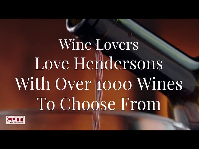 Henderson Wines, Edinburgh. Video Demo By Corrie D Marketing