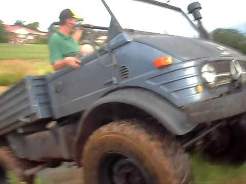 UNIMOG 406 CEMENT WATER CANAL RIDE CARLETONVILLE SOUTH AFRICA