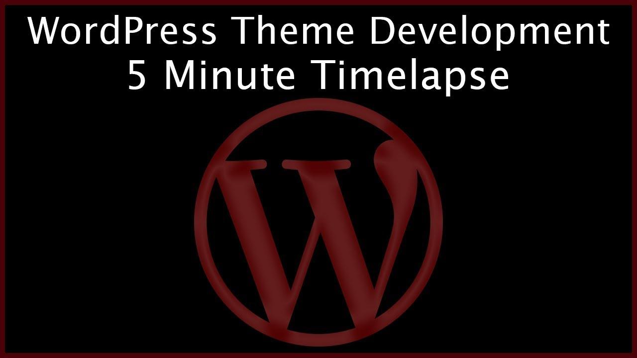 WordPress Theme Development Timelapse - Advanced Web Development Workflow