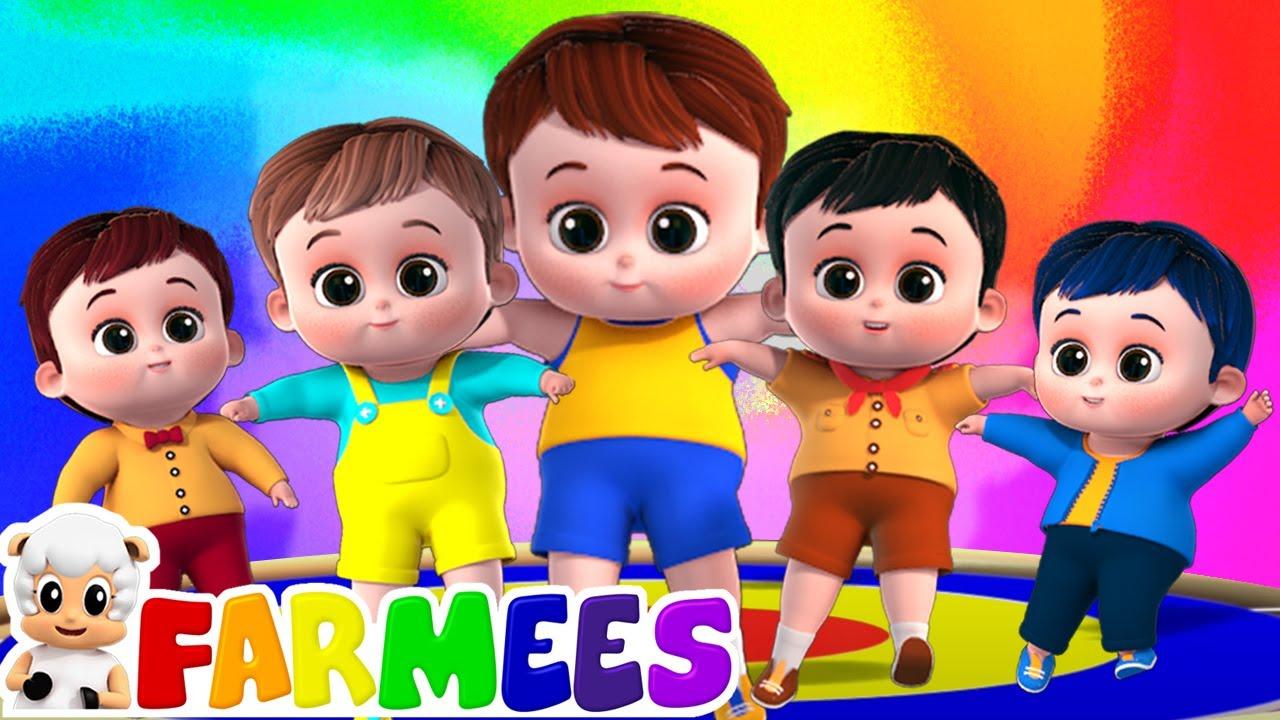 ห้าทารกน้อย | เนอ สเซอรี่ ไรม์ | เพลงสําหรับทารก | Farmees Thailand | เพลง สำหรับ เด็ก