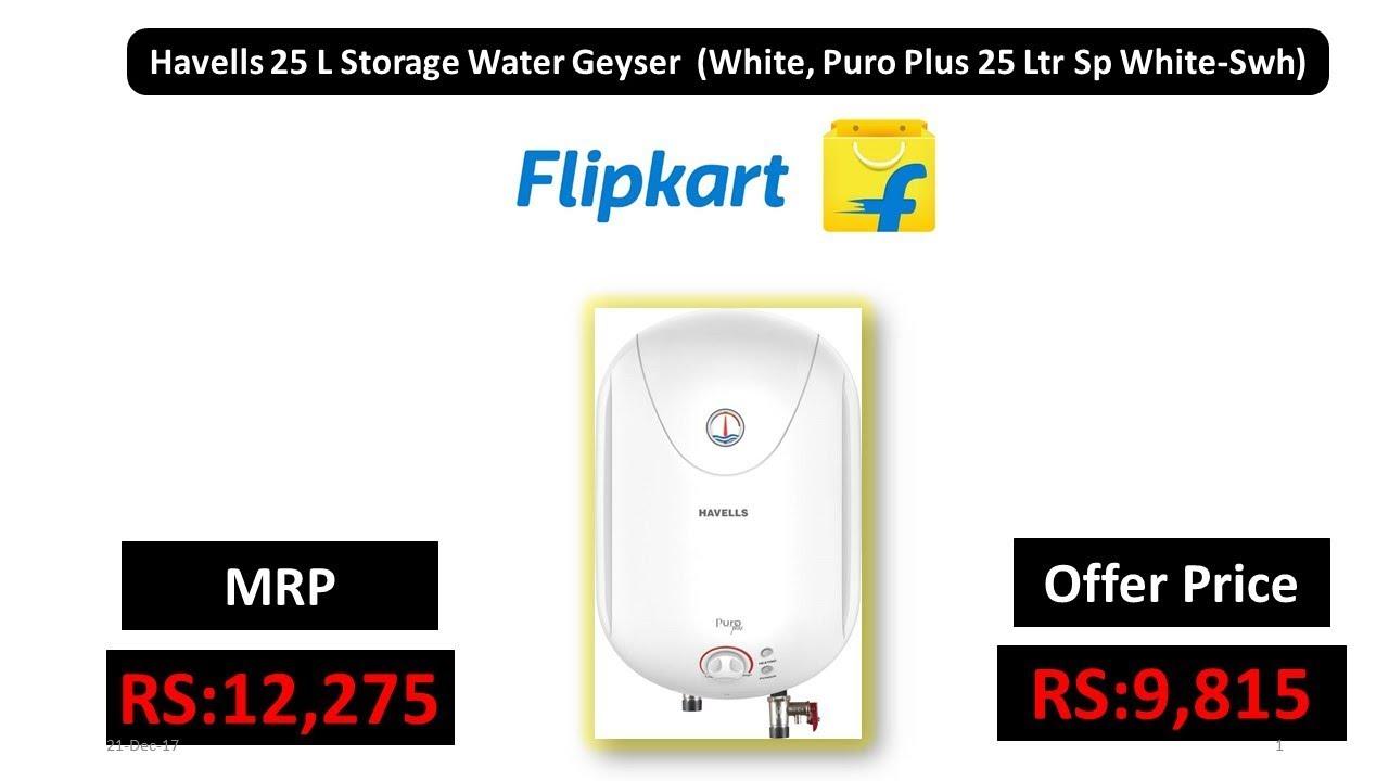 269a9a7cb6c749 Havells 25 L Storage Water Geyser (White