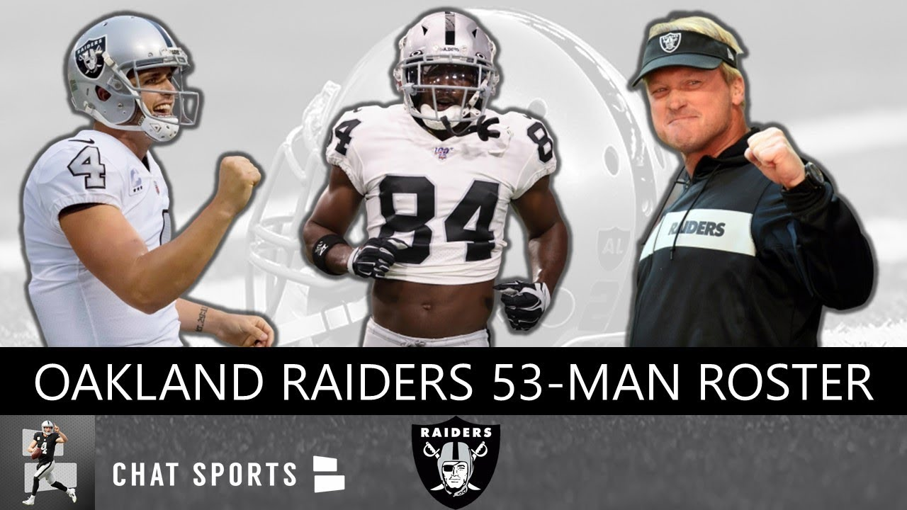 on sale 81613 1c5ee Oakland Raiders 2019 53-Man Roster Cuts Including Keelan Doss, Brandon  Marshall & Anthony Rush