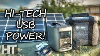 FAST USB Charging Hi Tech SOLAR GENERATOR! EcoFlow River 370 Portable Power Station Review
