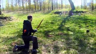 Потешный тир. Стрельба с помощью кольца. Традиционный лук SKB