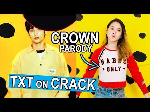 "TXT IS EMO!! -【TXT ""CROWN"" PARODY】| K-POP On CRACK | MiniMoochi"