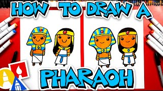 How To Draw An Ancient Egyptian King And Queen (Pharaoh)