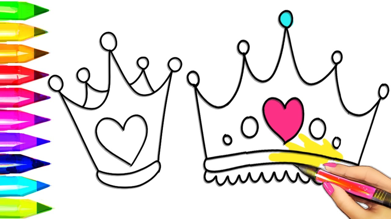 Princess Tiara Crown Coloring Pages | Colouring for Kids with ...