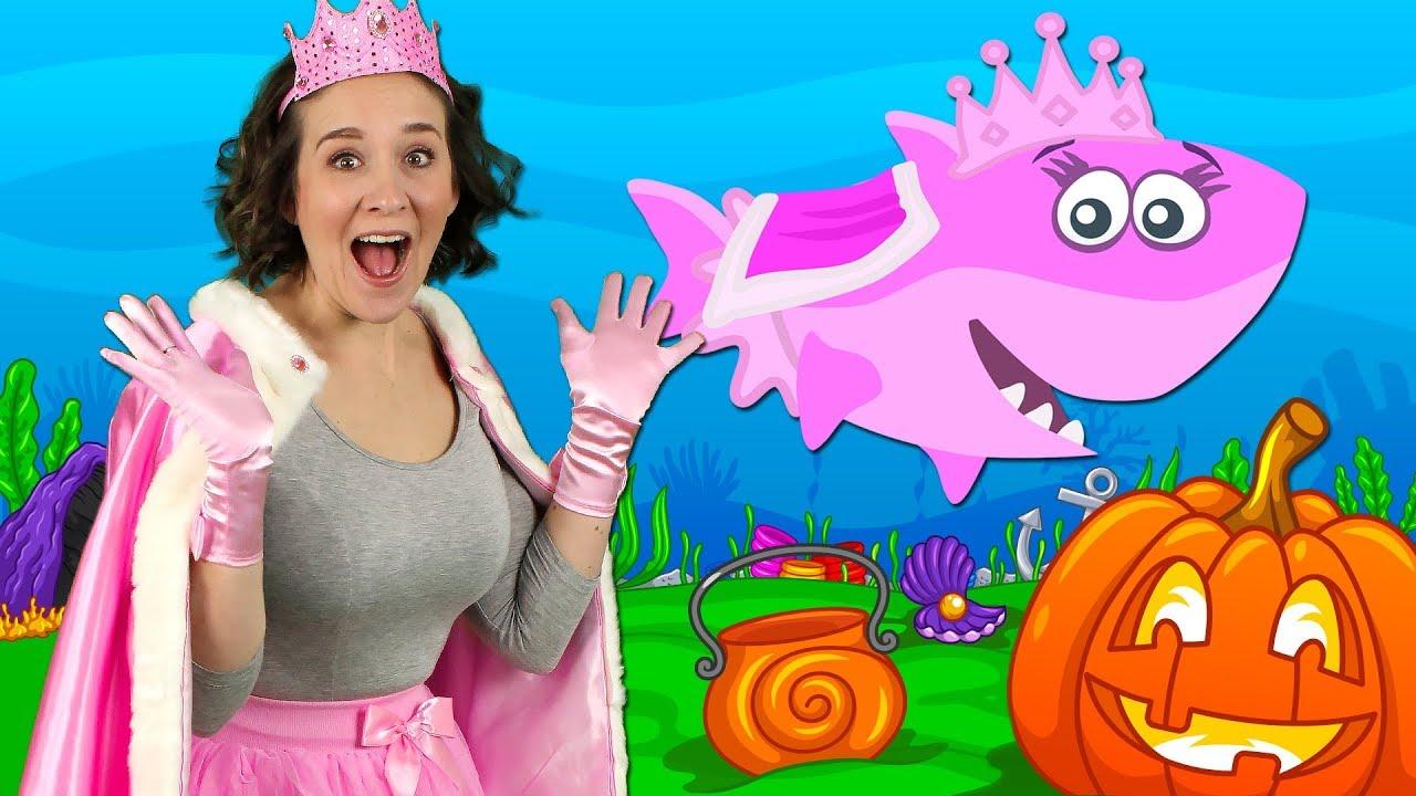 Halloween Baby Shark  Kids Songs and Nursery Rhymes