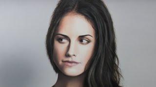 Realistic portrait painting oil on canvas