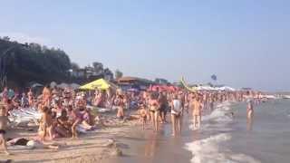Кирилловка  Центральный пляж, август 2015(, 2015-08-24T22:14:12.000Z)