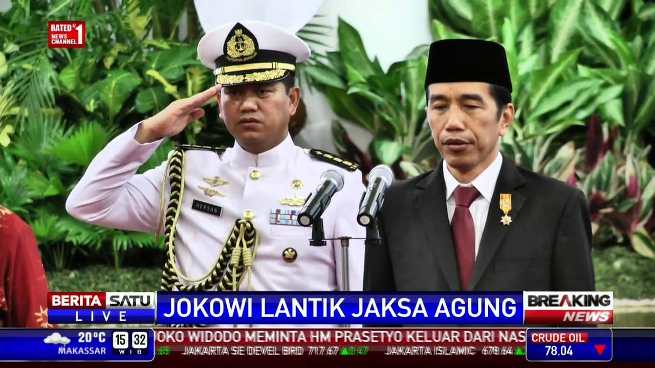 Pelantikan Jaksa Agung Baru Dibuka Lagu Indonesia Raya