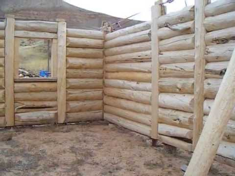 Download Youtube: This is the log house we're building.....