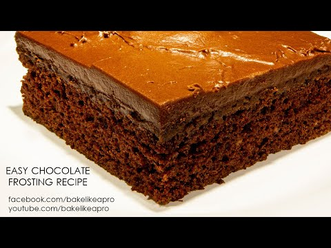 Easy And Yummy Chocolate Frosting Recipe