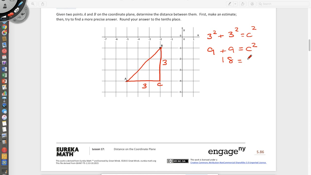 Distance on the Coordinate Plane - Grade 8 (examples ... on