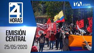 Noticias Ecuador: Noticiero 24 Horas, 25/05/2020 (Emisión Central)
