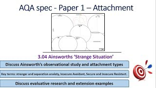 Ainsworth's 'strange situation': Attachment (3.04a) Psychology AQA paper 1
