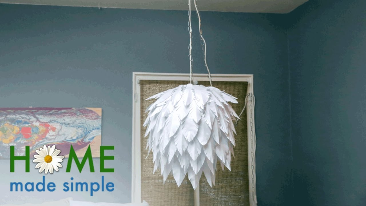 You can make this chic modern chandelier with a few pieces of paper you can make this chic modern chandelier with a few pieces of paper home made simple own aloadofball Images