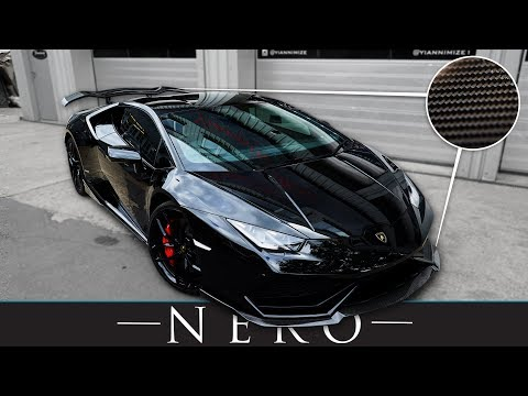 New Lamborghini Huracan fitted with Nero Carbon Fiber Body Kit