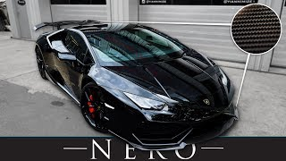 New Lamborghini Huracan fitted with Nero Carbon Fiber Body Kit