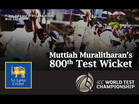 Muttiah Muralitharan's 800th Wicket