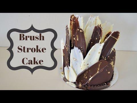 How to make Brush Stroke Cake