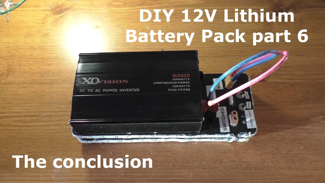 Lithium Battery Pack >> DIY 12V Lithium Battery Pack part 6 - YouTube