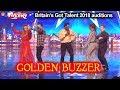 Donchez Dacres GOLDEN BUZZER sings & dances to WIGGLE WINE Original Song Britain's Got Talent 2018