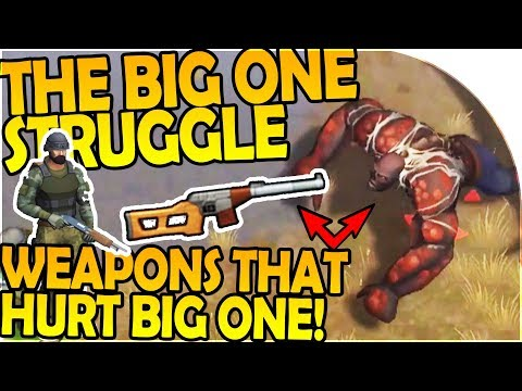 THE BIG ONE STRUGGLE - WEAPONS THAT HURT THE BIG ONE - Last Day On Earth Survival 1.5.9 Update