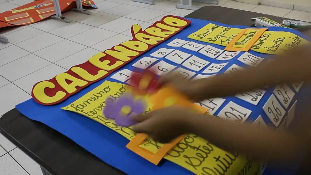 Populares Calendário em E.V.A para sala de aula - YouTube JQ96