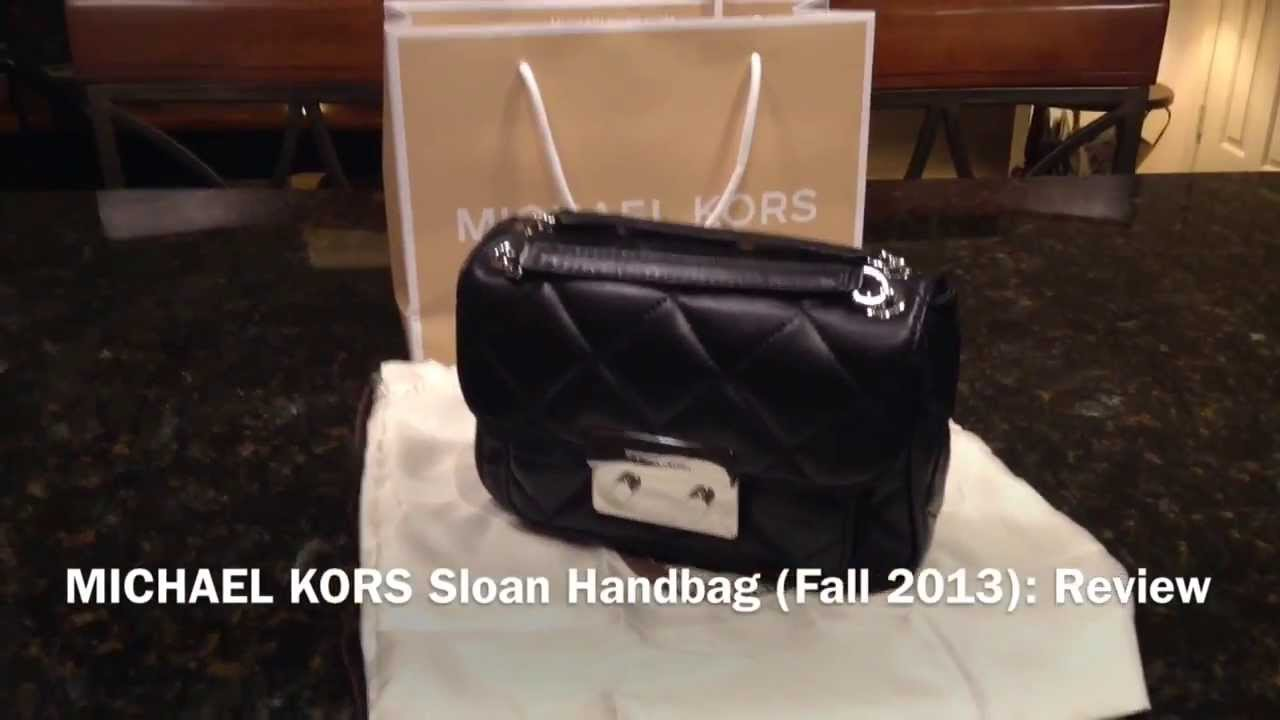 f6eb933205b4 New MICHAEL KORS Sloan Small Quilted Shoulder Bag Silver Color Hardware  Fall 2013: Review - YouTube