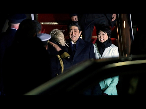Japan's Abe arrives in Washington for trade and security talks