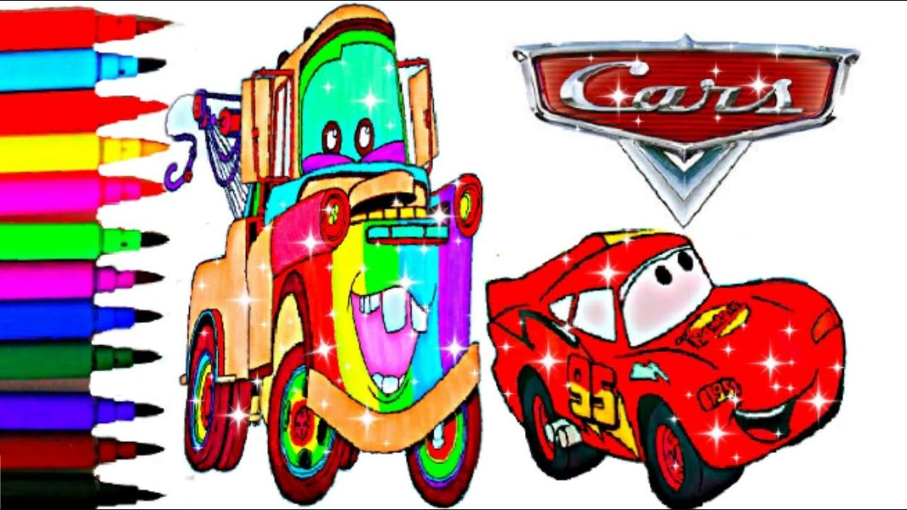 disney cars coloring book pages lightning mcqueen kids fun art